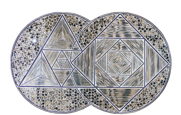 Monir Shahroudy Farmanfarmaian, The Two Circles, 2008, Courtesy Rose Issa Projects © Monir Shahroudy Farmanfarmaian